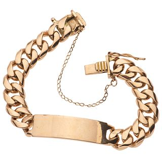BRACELET IN 18K AND 10K YELLOW GOLD Box clasp with 8-shaped safety and safety chain (10K gold)