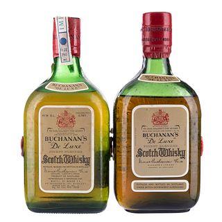 Buchanan's. De luxe. Blended. Scotch Whisky. Piezas: 2. En presentaciones de 750 ml.