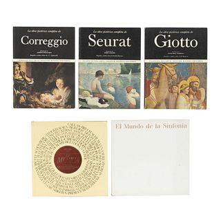 LIBROS SOBRE ARTE Y MÚSICA.  a) Von Rauchhaupt, Úrsula. El Mundo de la Sinfonía. b)Stevenson, Víctor. La Música. pzas: 5.