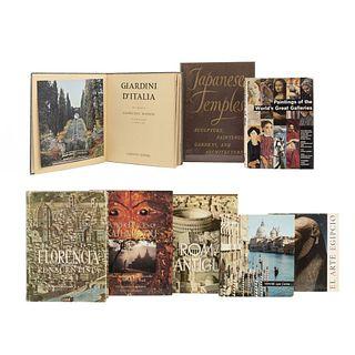 LIBROS SOBRE ARTE EUROPEO, ORIENTAL Y MEDIO ORIENTE. a) Kidder, Edward. Japanese Temples. Piezas: 8.