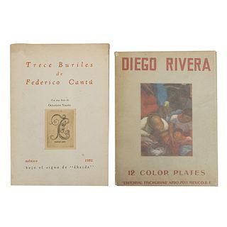 Fernández, Justino. Diego Rivera. Artist of the New World. México: Eugene Fischgrund Publisher, sin año. 8 p. + 12...