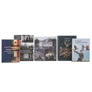 LIBROS SOBRE ESTADO MAYOR PRESIDENCIAL Y EJÉRCITO MEXICANOS. a) Historia de los Ejércitos Mexicanos. Piezas: 5 .