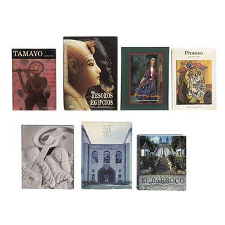 LIBROS SOBRE ARTE. a) Toman, Rolf. El Barroco. Arquitectura, Escultura, b) Art Decó. c)Varias Voces para un Mismo Canto. Pzas: 7.