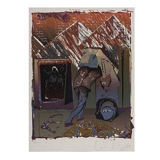 Antonio Ramírez. Sin título. Firmado y fechado '09. Serigrafía 11/30. Sin enmarcar. 56 x 44 cm.