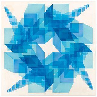 DAVID KUMETZ (Ciudad de México, 1967 - ) Sin título Firmado y fechado 90 Acrílico sobre papel. 59 x 59 cm.