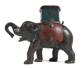 1880 ELEPHANT HOWDAH Mechanical Bank