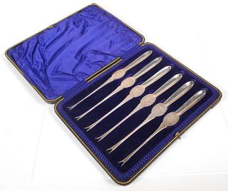 6-pc Set Sterling SHELLFISH FORKS 1905