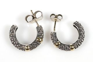LAGOS CAVIAR 18k Gold Sterling Earrings