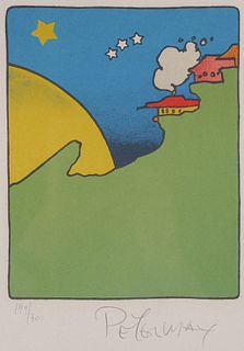 """PETER MAX """"House in the Sun"""" Lithograph"""
