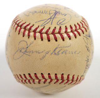 1961 St Louis Cardinals Team Signed Baseball