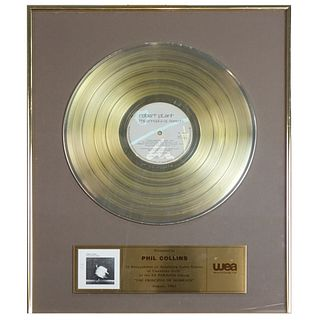 Phil Collins Es Paranza Gold LP Award