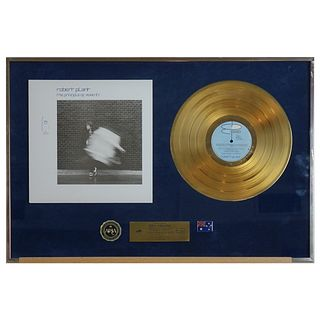 Phil Collins-Robert Plant Certified Gold LP Award