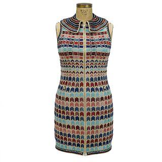 Chanel Zip-Up Sleeveless Dress