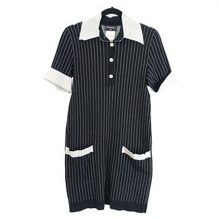 Chanel Pinstriped Dress