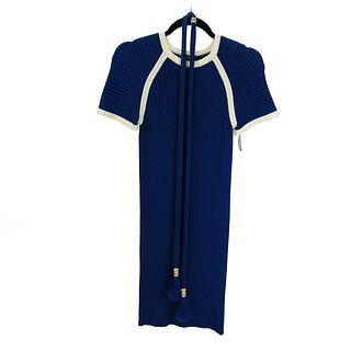 Chanel Blue Dress with Matching Belt
