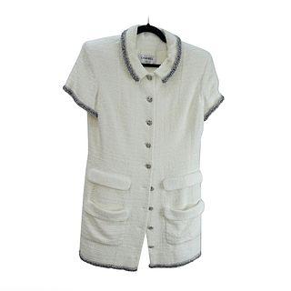 Chanel Short Sleeve Tweed Dress