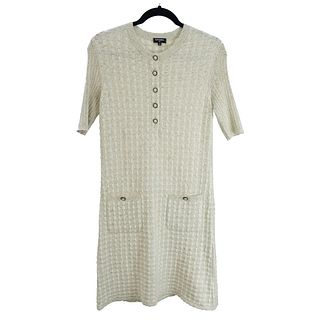 Chanel Short Sleeve Dress with Pockets