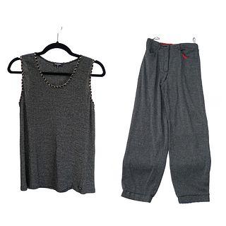 Chanel Metallic Sleeveless Top and Pants