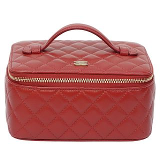 Chanel CC Quilted Jewelry Case