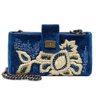 Chanel Velvet Embroidered Clutch