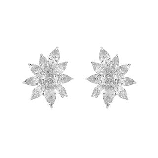 Diamond and Platinum Earrings