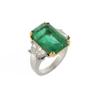 AGL Emerald, Diamond and 14K Ring