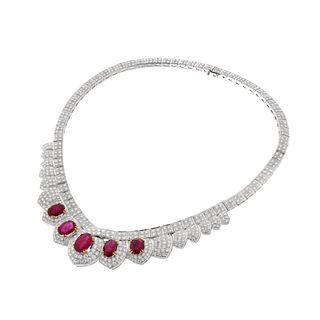 Ruby, Diamond and 18K Necklace