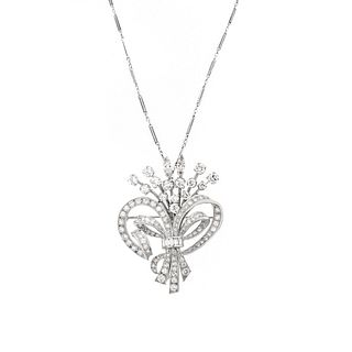 Art Deco Diamond and Platinum Pendant