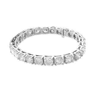 Diamond and 18K Tennis Bracelet