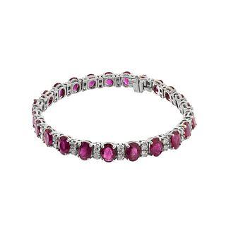 Ruby, Diamond and 14K Bracelet