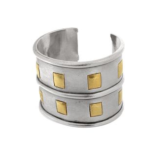 Emilia Castillo (Mexican) Silver and Gold Cuff