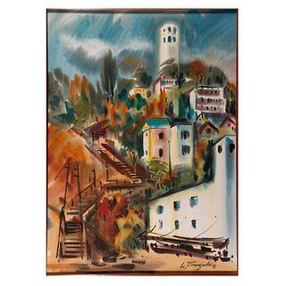 Lewis Suzuki (American, b. 1920) Coit Tower