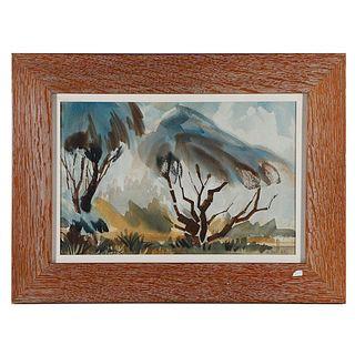 G. Bol (20th Century) Windswept Trees