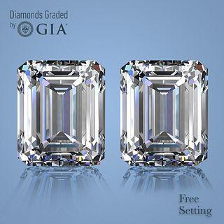 9.01 carat diamond pair Emerald cut Diamond GIA Graded 1) 4.50 ct, Color D, VS1 2) 4.51 ct, Color D, VS1. Unmounted. Appraised Value: $666,800