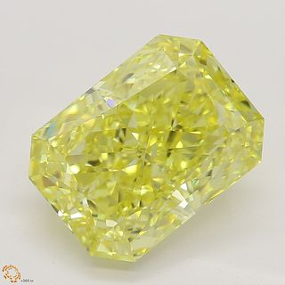 3.03 ct, Natural Fancy Intense Yellow Even Color, VS1, Radiant cut Diamond (GIA Graded), Unmounted, Appraised Value: $135,700