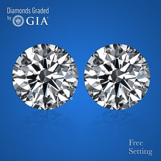 4.53 carat diamond pair Round cut Diamond GIA Graded 1) 2.26 ct, Color D, VVS2 2) 2.27 ct, Color D, VVS2. Unmounted. Appraised Value: $202,200