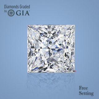 3.02 ct, D/VS1, Princess cut Diamond. Unmounted. Appraised Value: $140,000