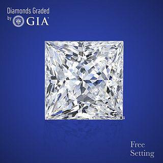 3.01 ct, D/VVS1, Princess cut Diamond. Unmounted. Appraised Value: $201,600