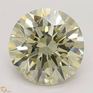 12.03 ct, Natural Fancy Light Brownish Greenish Yellow Even Color, SI1, Round cut Diamond (GIA Graded), Unmounted, Appraised Value: $413,700