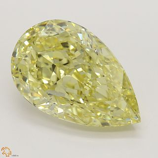 5.04 ct, Natural Fancy Intense Yellow Even Color, VS2, Pear cut Diamond (GIA Graded), Unmounted, Appraised Value: $295,300