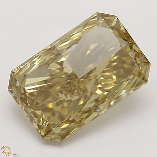 3.10 ct, Natural Fancy Brown Yellow Even Color, VVS1, Radiant cut Diamond (GIA Graded), Unmounted, Appraised Value: $35,900