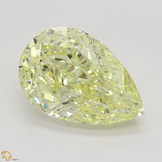 3.23 ct, Natural Fancy Yellow Even Color, IF, Pear cut Diamond (GIA Graded), Unmounted, Appraised Value: $84,800