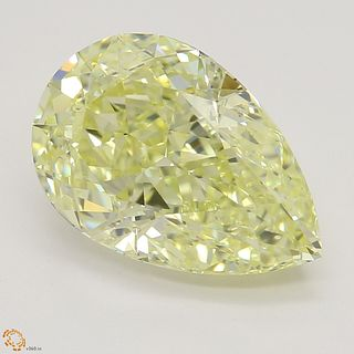 3.22 ct, Natural Fancy Light Yellow Even Color, IF, Pear cut Diamond (GIA Graded), Unmounted, Appraised Value: $56,900