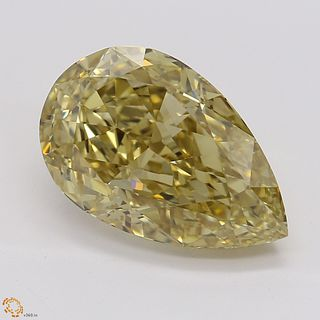 3.03 ct, Natural Fancy Brownish Yellow Even Color, VS2, Pear cut Diamond (GIA Graded), Unmounted, Appraised Value: $42,400