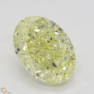 6.51 ct, Natural Fancy Yellow Even Color, SI1, Oval cut Diamond (GIA Graded), Unmounted, Appraised Value: $151,000