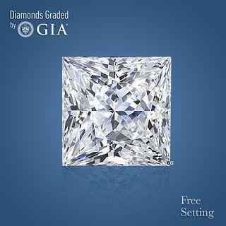 3.51 ct, F/VS1, Princess cut Diamond. Unmounted. Appraised Value: $135,100