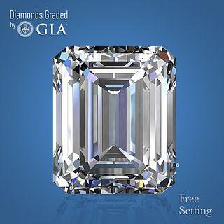 3.01 ct, I/VVS1, Emerald cut Diamond. Unmounted. Appraised Value: $81,600