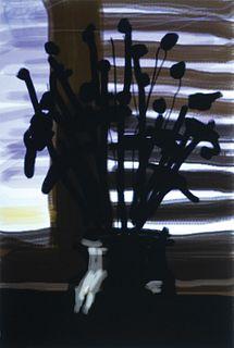 David Hockney, Am. b. 1937, Shadowed Long-Stem Flowers, Digital print, unframed