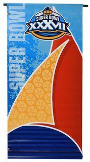 Super Bowl XXXVII Street Banner