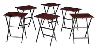 Set Six Contemporary Black Lacquered Tables